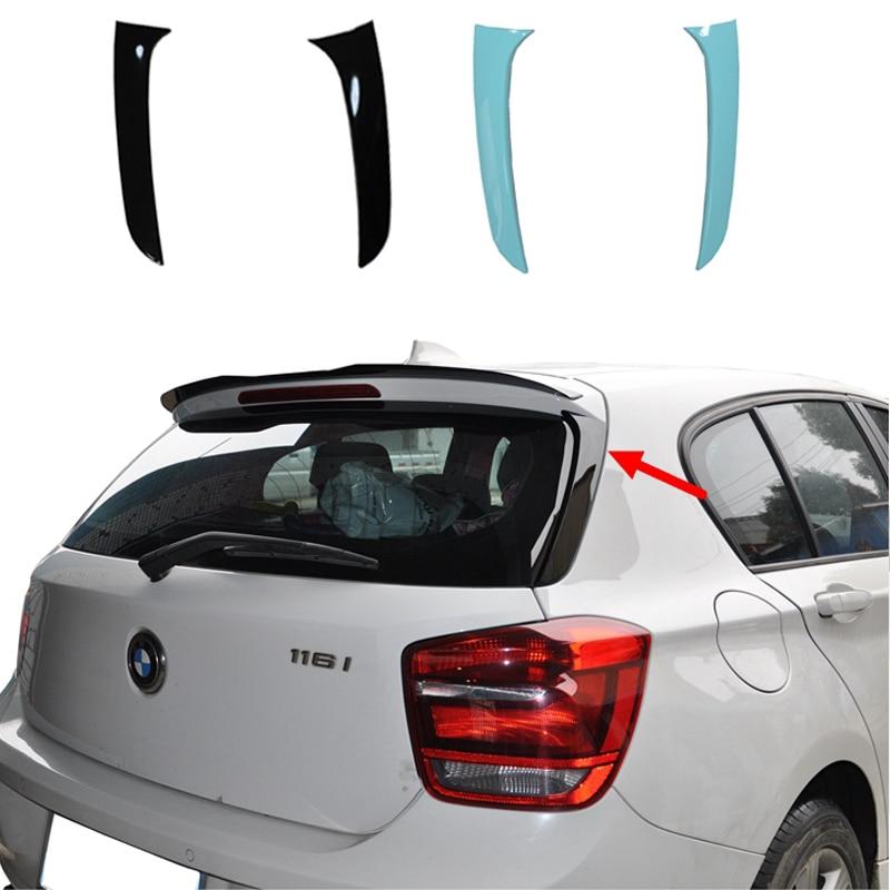 สปอยเลอร์สำหรับ BMW F20 2012-2018 1 Series 120i 125i 118i M135i 116i F20 สีดำด้านหลังปีกหลังคา/ด้านบนสปอยเลอร์ F20 สปอยเลอร์