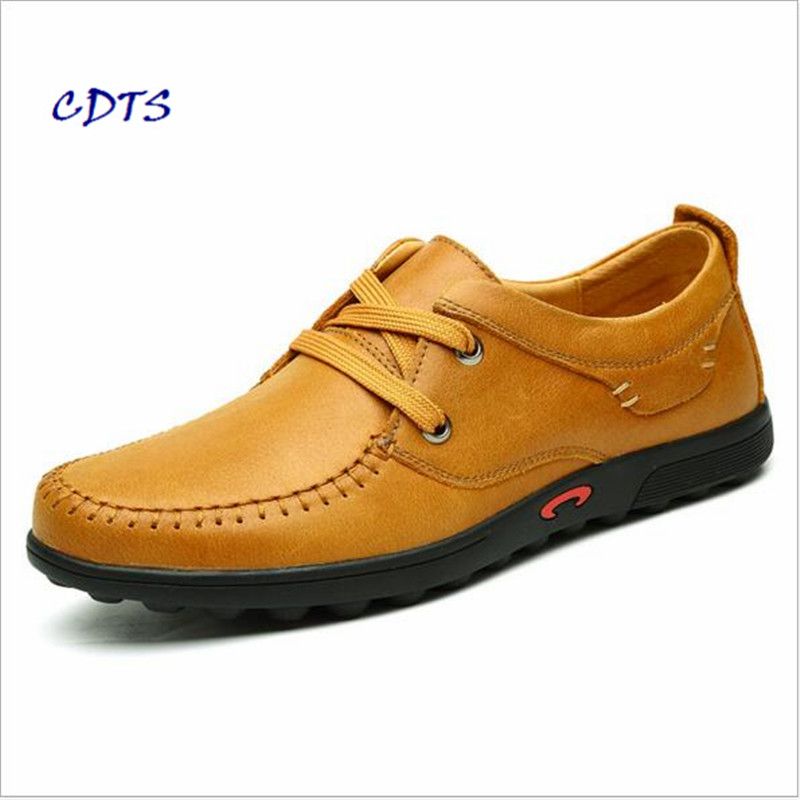Men Leather Shoes Casual 2017 Autumn Fashion Shoes For Men Designer Shoes Casual Breathable Big Size Mens Shoes Comfort Loafers oudiniao men shoes big size lace up comfort split leather men casual shoes handmade loafers luxury slip on mens shoes casual