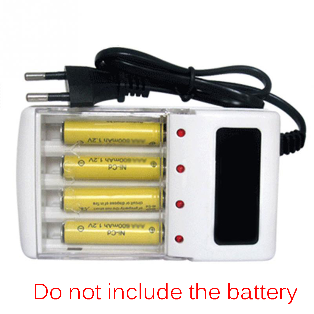 Marsnaska 1Pcs Universal Charger Aa And Aaa Rechargeable 4Ports Battery Charger Smart Travel Charger With Eu