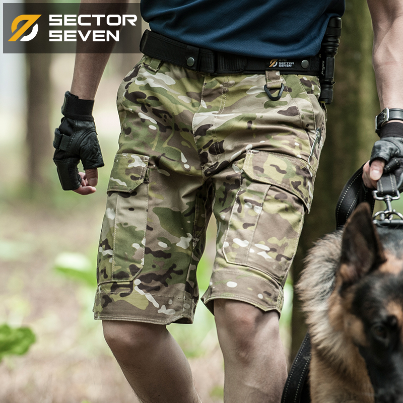 Sector Seven 2020 New Summer Mens Camouflage Tactical Cargo Casual Shorts Male Silm Work Shorts Man Army Military Short Pants