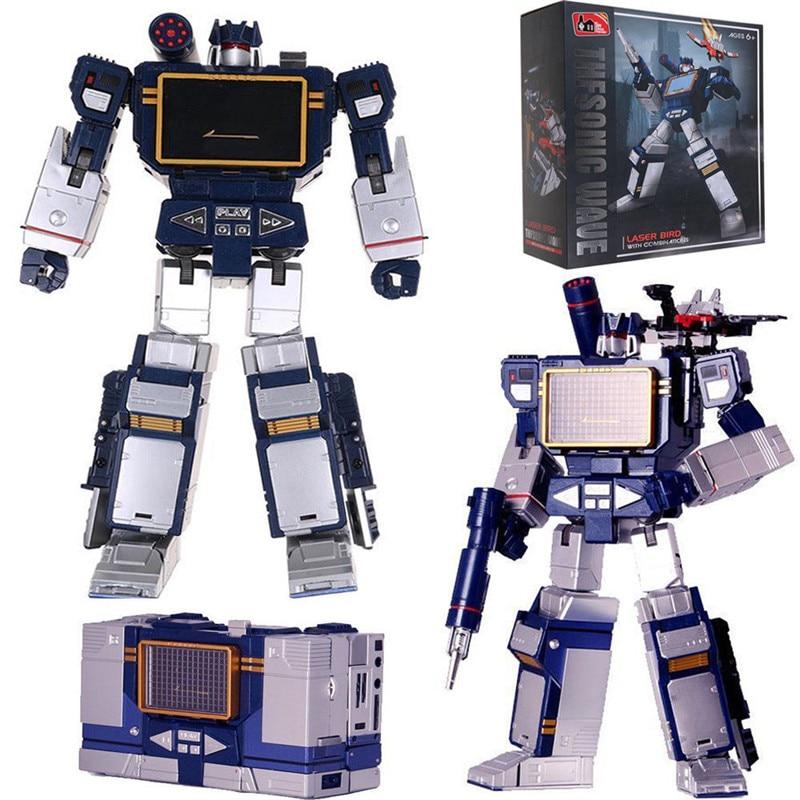 Transformer Masterpiece MP 13 Soundwave MasterPiece Action Figure Collection Robot Transformer Toys child Gift 25cm