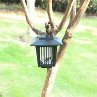 Eco-Friendly Solar Powered Outdoor Garden Light Anti Mosquito Insect Flying Killer Lamp Bug Zapper Garden Light Moskito Trap