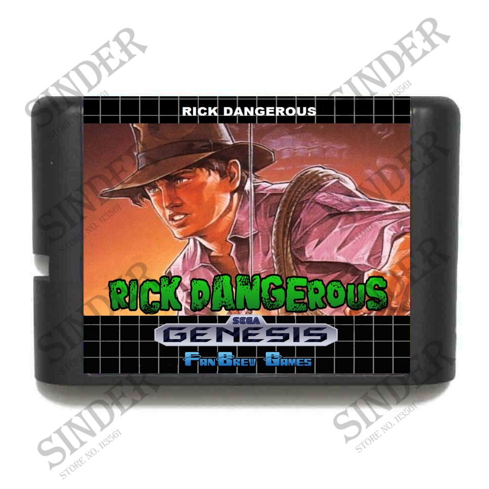 Rick Dangerous 16 bit MD Game Card For Sega Mega Drive For Genesis