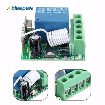 цена на DC 12V 1 Ch Channel 433MHz Wireless Relay Module RF Remote Control Switch Heterodyne Receiver Controller Board 3.5cmX3cmX1.6cm