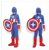 Unisex Christmas Party Clothes Accessories Stage Performance Clothing U S A Captain Comic Game Dress Up