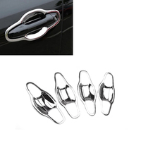 New Car Styling Exterior 8pcs ABS Chrome Car Door Handle Bowl Cup Cover Trim For Toyota