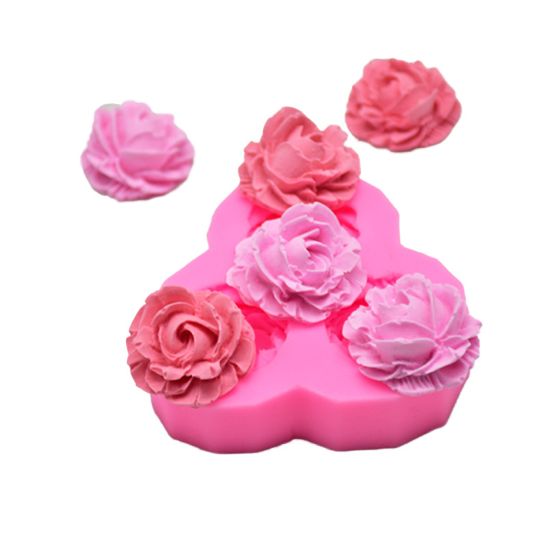 WISHMETYOU 3D Rose Flower Silicone Soap Mold For Diy Handmade Cake Cookie Decorating Tools Crafts Accessories Beauty Soap Moulds in Soap Molds from Home Garden