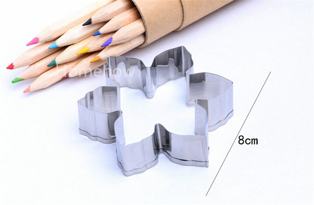 1PC/Lot Newest Christmas Snowflake Stainless Steel Metal Cookie Cutter Fashion Baking Tools Fruit Chocolate Bsicuit Cutters
