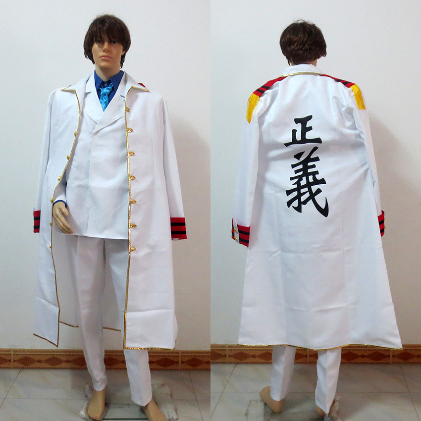 One Piece Cosplay Monkey D. Garp Costume Warring States Coat Tailor made Any Size