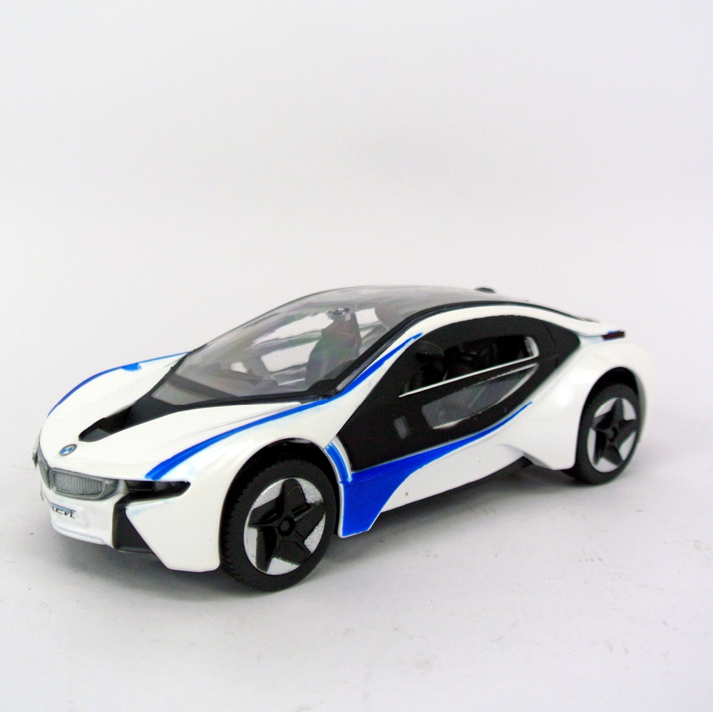 MZ 1:32 BM I8 Sports car model metallic material kids toys Open the door sound and light back to power best gift