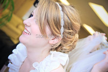 Original Design Clear Crystal wedding Bridal headband for bride Headpiece Europe Style Luxury Hairband For Wedding