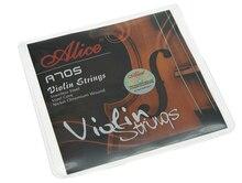 Set of 4 Alice Stainless Steel Violin Strings Nickel Chromium Wound String