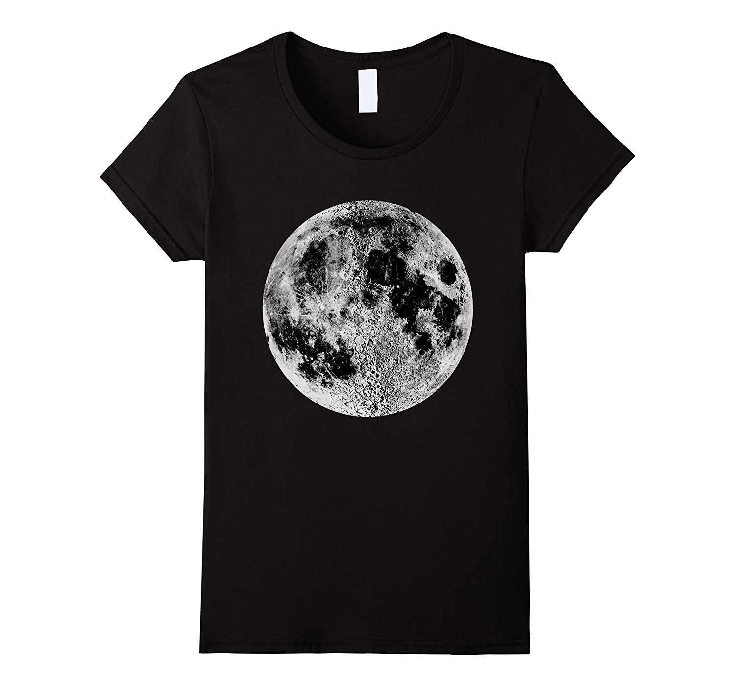 435d96c2e Full Moon T-Shirt Space Travel Science Astronaut Graphic Tee Funny Fashion  Cotton Casual T
