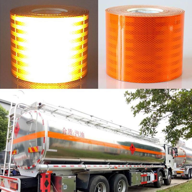 Купить с кэшбэком 15cm width  High quality reflective orange belt Auto super grade reflective sticker orange reflective warning tape