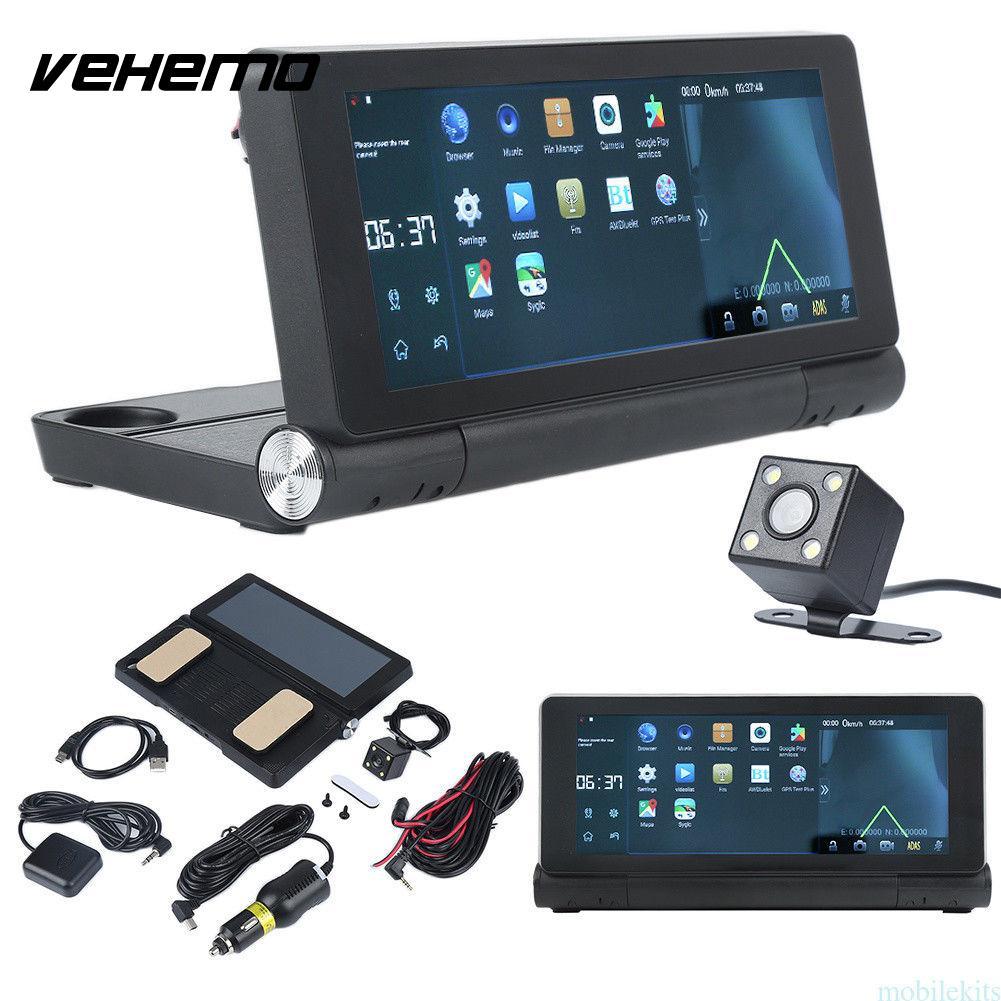 Vehemo GPS Car DVR Camera Dual Lens IPS 7.0 Full HD 1080P Video Recorder Registrator Android 5.0 Car Camcorder DVRs Dash Cam 6 86 android 3g car dvr gps camera dash camera full hd 1080p video recorder wifi bluetooth registrator dual lens dvrs dashcam