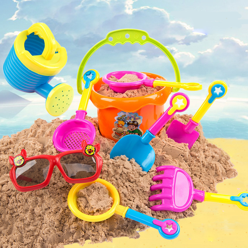 SLPF 9-piece Set Of Hot Beach Toys Children Play Cubo Water Digging Shovel Bucket Play Sand Model Tool Outdoor Kids Game Toy G18