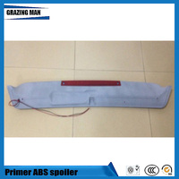 Hot Sale ABS Primer Color Rear Spoiler For Golf 2 Spoiler With Light