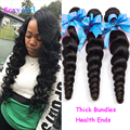 Indian Virgin Hair Loose Wave 3 Bundles Raw Indian Hair Loose Wave Virgin Hair Bundle Deals 7A Real Human Hair Bundles Weaing