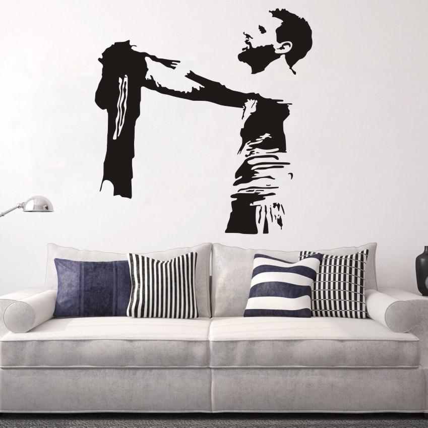 Messi Football Player Art Wall Decal Barcelona FC Football Club Soccer Vinyl Sticker Mural Bedroom Decor Home Decoration W376 Салфетницы