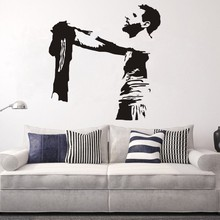 Messi Football Player Art Wall Decal Barcelona FC Club Soccer Vinyl Sticker Mural Bedroom Decor Home Decoration W376