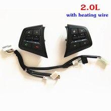100% Del Volante Original de Botón Para Hyundai ix25 (creta) 2.0 Botón de Control de Velocidad Botones de Control Remoto Bluetooth Del Teléfono