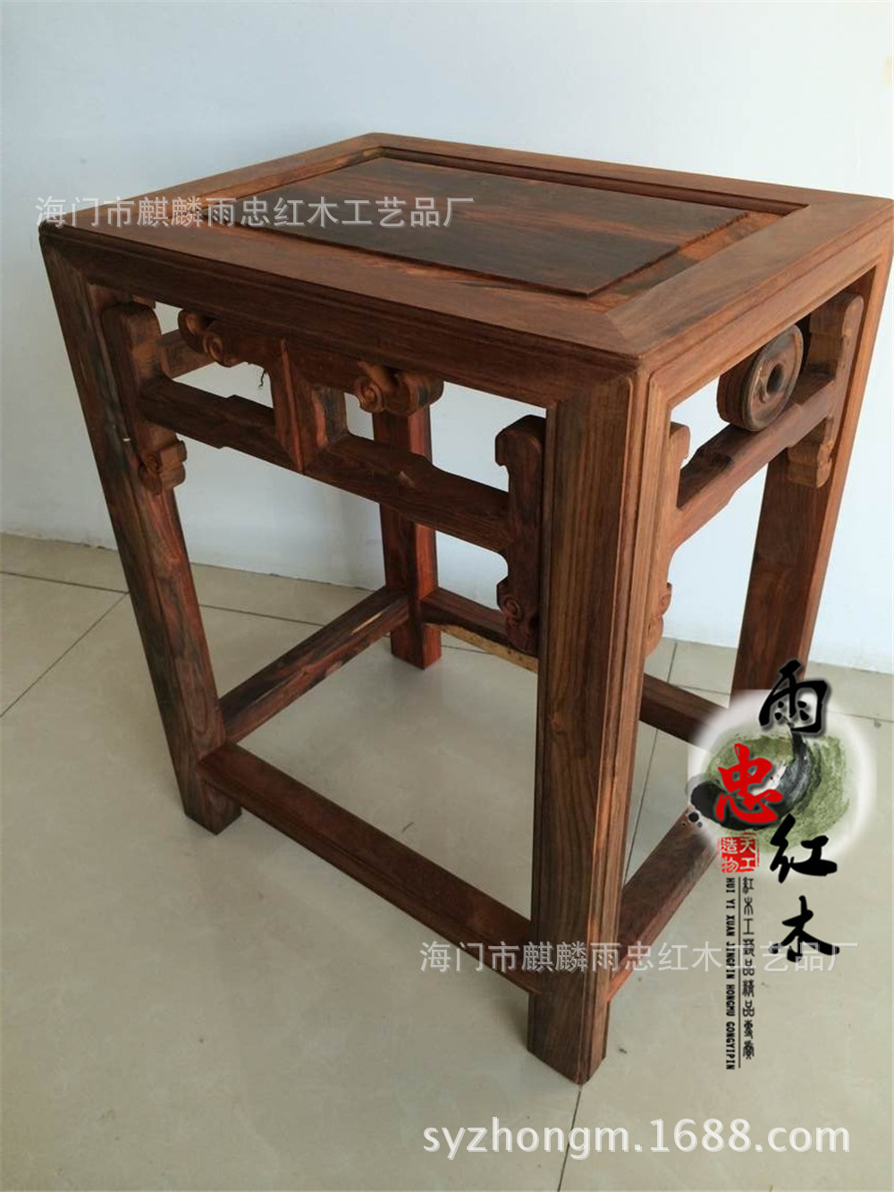 Laos red wood small stool square stool Cochin rosewood mahogany red wood Toys Stool Desks