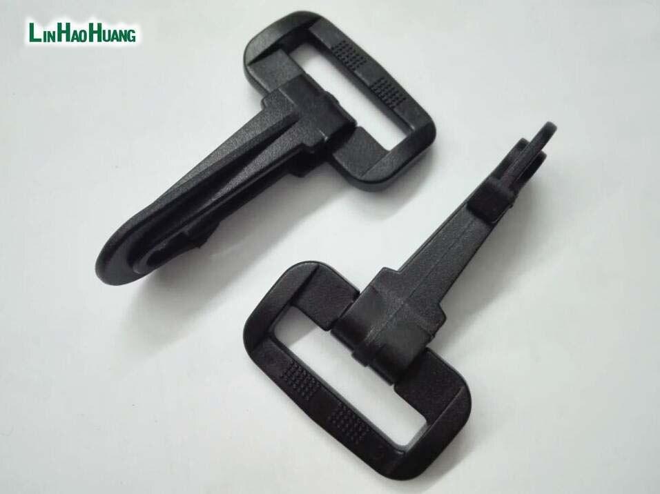 30pcs/lot 25mm 1inch black POM plastic spring snap clip hooks backpack carabiner swivel snap hook paracord strap hooks2016090601