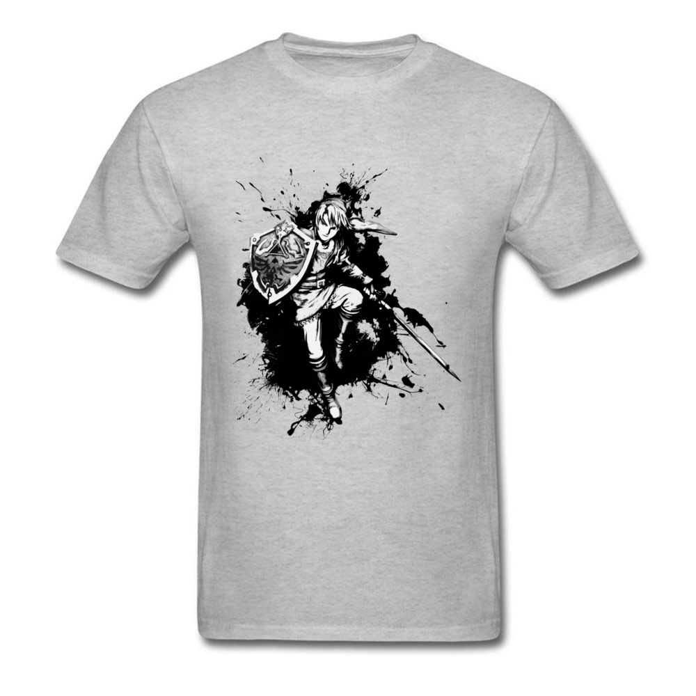 Brand New Hyrulean Cartoon Drawing Print Mens Custom T Shirt Short Sleeve Grey Shirts Warrior Group Discount Top Tees