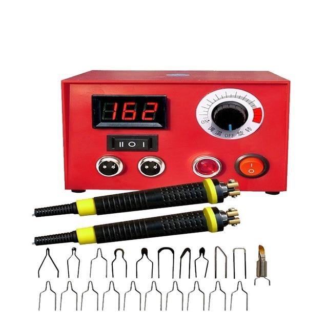 100 واط درجة الحرارة الرقمية متعددة الوظائف القرع آلة تصوير الحرارة مع 20 قطعة بيروغرافيا الحديد نصائح 1 قطعة القلم