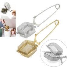 Ситечки для заваривания чая из нержавеющей стали, сетчатый фильтр для чая с ручкой, кухонные инструменты, фильтр для кофе, диффузор