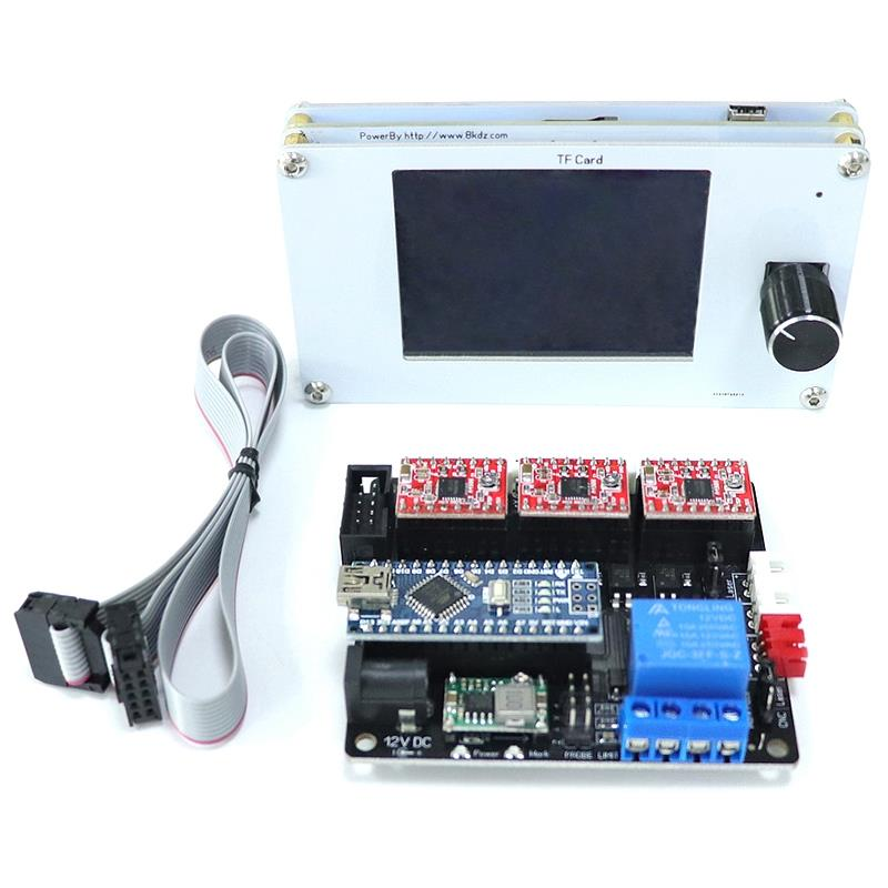 Cnc Usb Offline Controller Diy Cutter Engraving Machine Accessories 3Axis Control Board Tft Lcd Control Panel