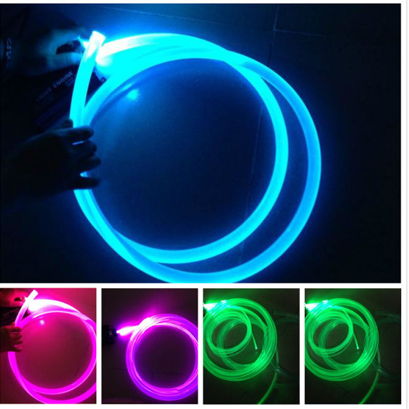 10-100M * 3mm High quality 0.75mm PMMA Plastic Fiber Optic end glow for DIY lighting decoration Car Home Room etc
