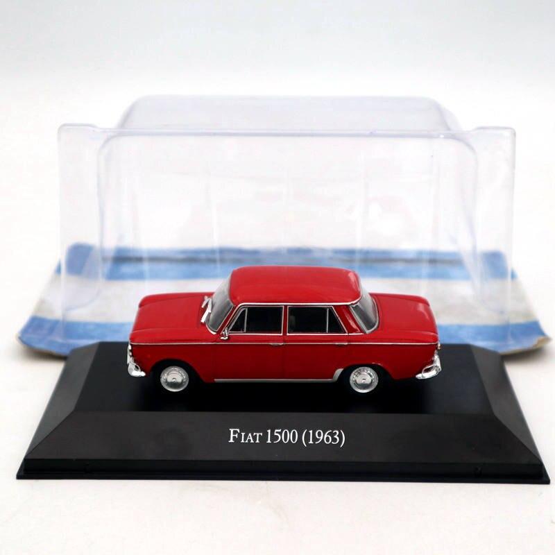 Fiat 1500 verde coche en miniatura in Vitrine Atlas 1:43