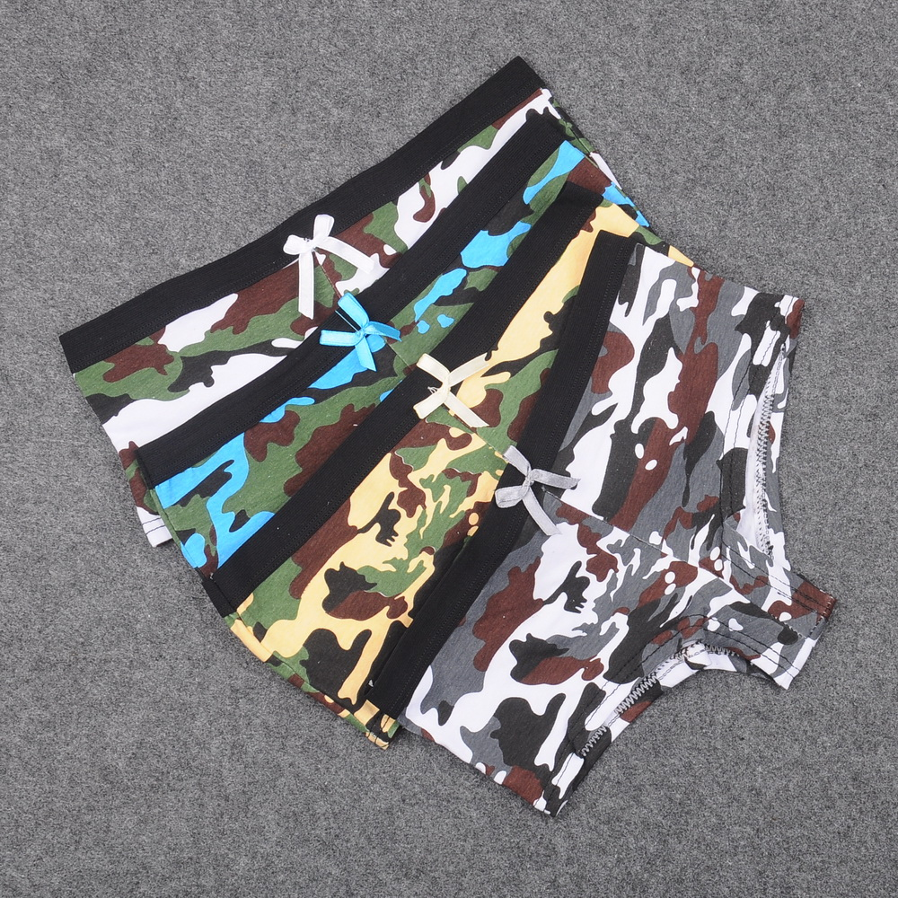 Underwear & Sleepwears 4pcs/lot New Army Cotton Boy Short Panties Cool Navy Boyshorts Underwear Women Shorty Boxer Briefs Fashion Girls Intimates Relieving Heat And Thirst.