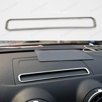 Stainless Steel Navigation Screen protection decorative panel cover trim Frame for A/udi A3 H/atchback S/edan Car styling