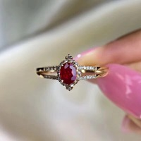 Best Wedding Ring Natural ruby ring Free shipping Natural and real ruby 925 sterling silver 4*5mm