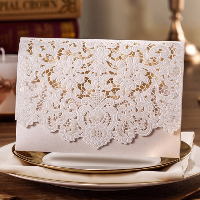Aliexpress Buy Horizontal Laser Cut Wedding Invitations – Wedding Invitation Cards Cheap