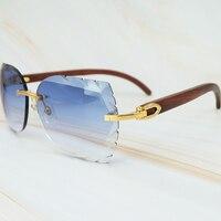 Солнцезащитные очки без окантовки 3 мм толстый градиентный Синий объектив квадратный бренд Картер солнцезащитное стекло es оптовая продажа