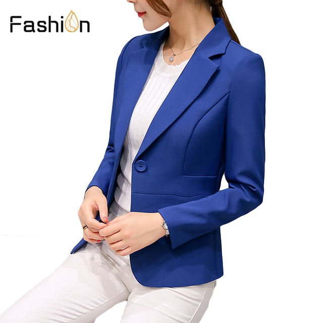 Plus Size XXL Women Blazers and Jackets Office Lady Autumn Tops OL Single Button Coat Ladies Blazer Korean Blazer Feminino