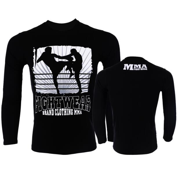 MMA Fighting Long-sleeve T-shirt Sports Fitness Fight Elastic Clothing Men's Jujitsu Sports Free Muscle