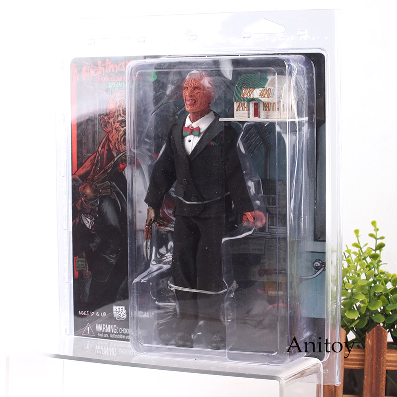 A Nightmare on Elm Street 3 Freddy Krueger NECA Toys Figure Horror with Lighting House PVC Action Figures Collection Model Toys horror film a nightmare on elm street 3 freddy krueger toys with lighting house action figure neca pvc collection model toy 28cm