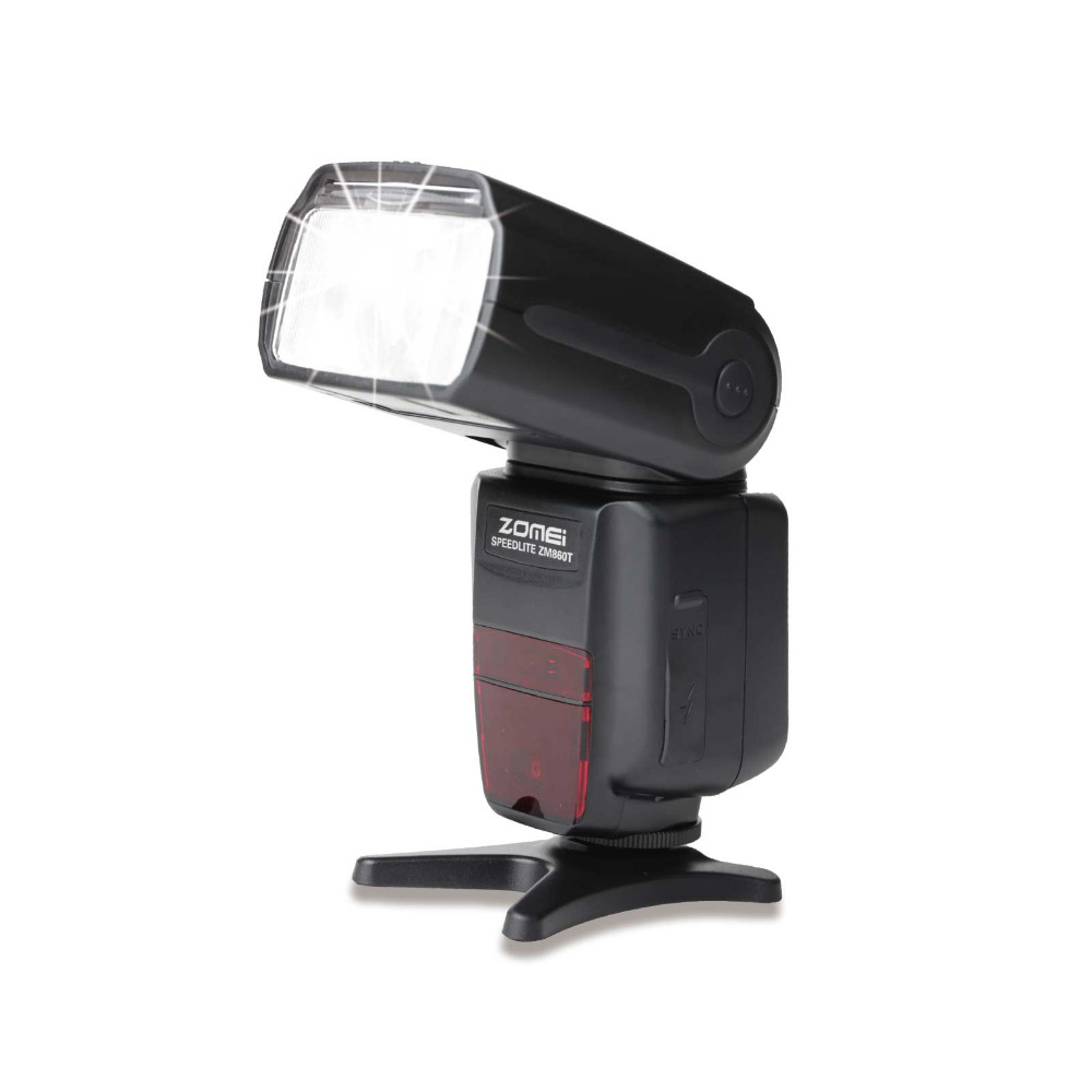 F16772 Zomei ZM860T LCD Display TTL High Speed Speedlite Speedlight Flash Light for DSLR Digital Camera 700D 60D 70D D7100 genuine meike mk950 flash speedlite speedlight w 2 0 lcd display for canon dslr 4xaa