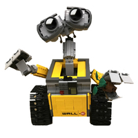 687 Pcs Legoings Ideas WALL E Building Blocks Robot Model Building Kit Bricks Toys Children Compatible 21303