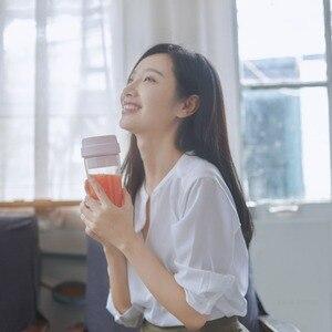 Image 5 - XIAOMI MIJIA 17PIN Stern Obst Tasse Kleine Tragbare mixer Entsafter mixer Küche küchenmaschine 400ML lade 30 Sekunden entsaften