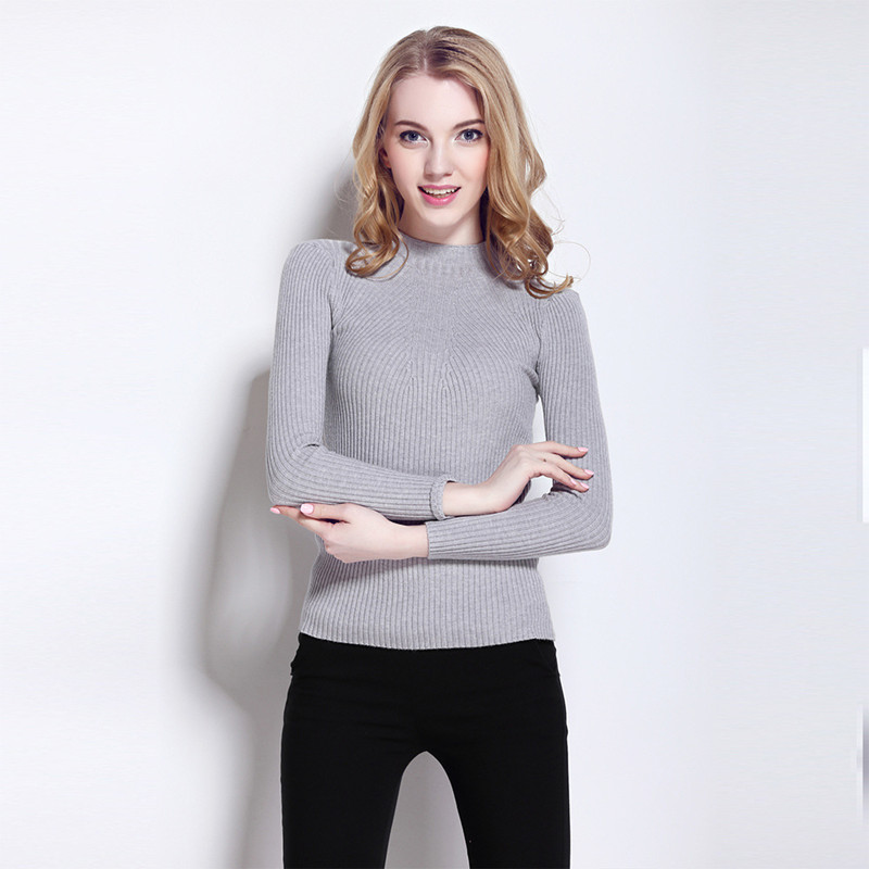 Womens sweaters popular style autumn and winter new sweater half turtleneck Christmas