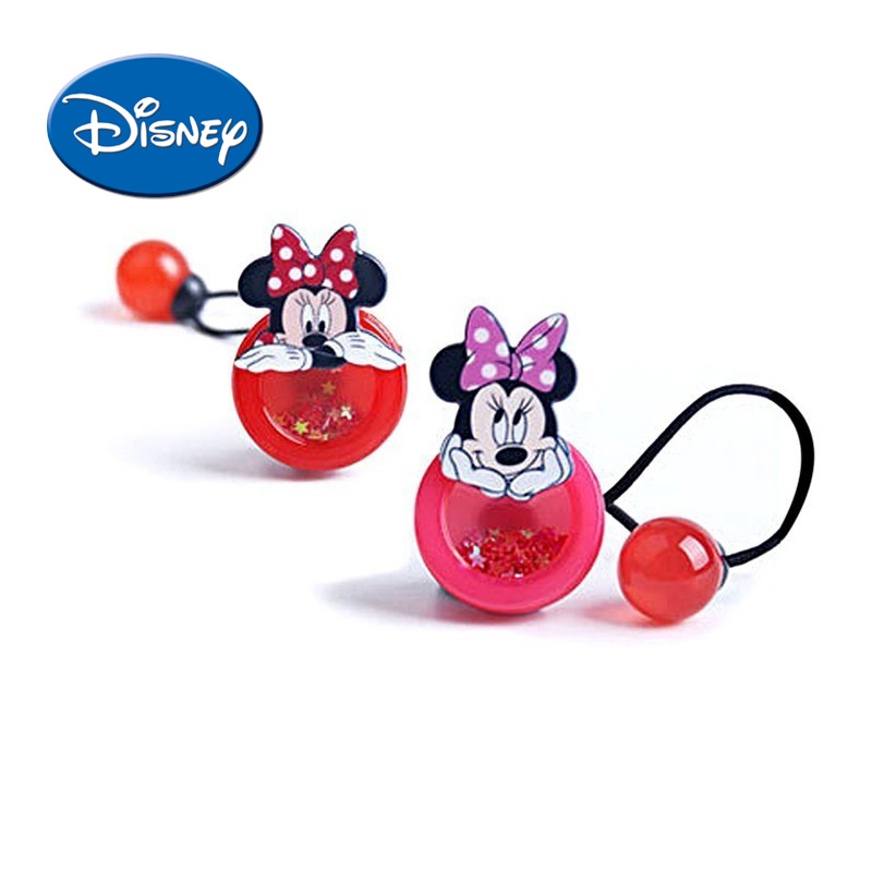 Mother & Kids Disney Minnie Headwear 1pcs/lot Cartoon Hair Ring Baby Children Accessories Lovely Hair Rope Cute Gift For Girls To Have Both The Quality Of Tenacity And Hardness Accessories