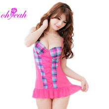 LV8405 Ohyeah popular style ladies night wear sex dress patchwork transparent lingerie hot women sexy babydoll
