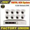 700TVL 8pcs Sony CCD Cctv System Day Night Dome Camera 8Channel Video Surveillance CCTV 8 Channel
