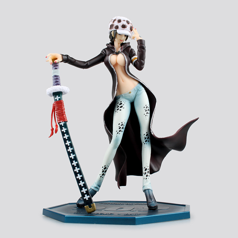 One Piece Action Figure Trafalgar Law Girl Ver PVC Figure 220mm POP One Piece Lady Law Death Doctor Anime Sexy Toys Figure action figure toys one piece trafalgar law ver 2 5 action figure collection model toy 24cm