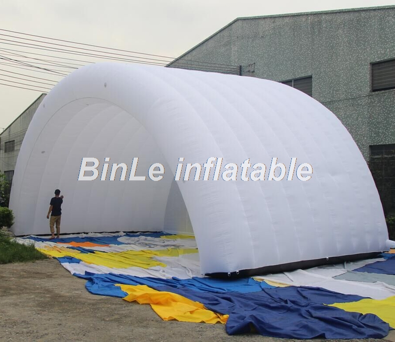 Most popular 10x6x5m white large commercial inflatable stage cover portable air roof shelter tent for party commercial sea inflatable blue water slide with pool and arch for kids